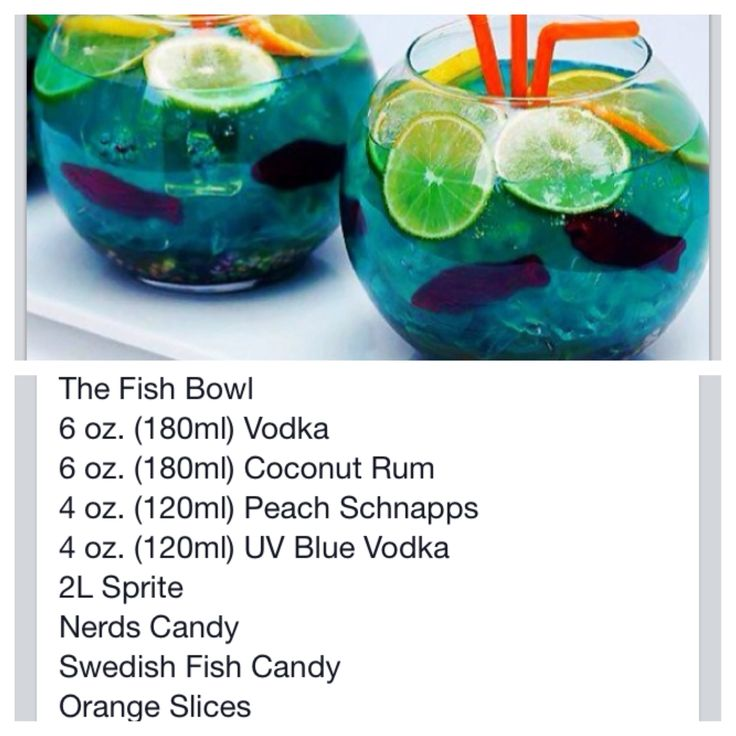 The fish bowl drink recipies and cooking ideas pinterest for How to make a fish bowl
