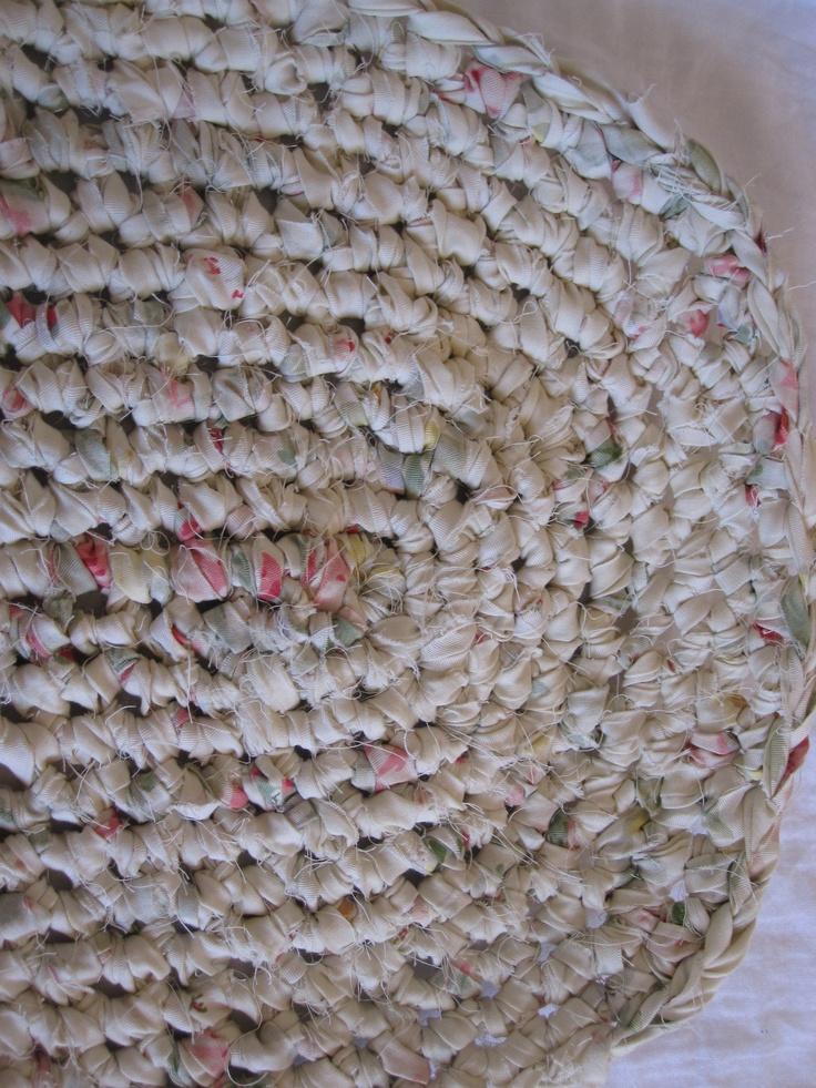 crochet rag rug in progress Rag rugs Pinterest