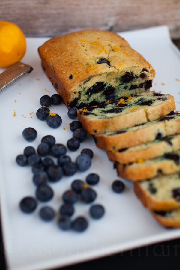 Blueberry Orange Bread-- infused with orange juice and orange zest
