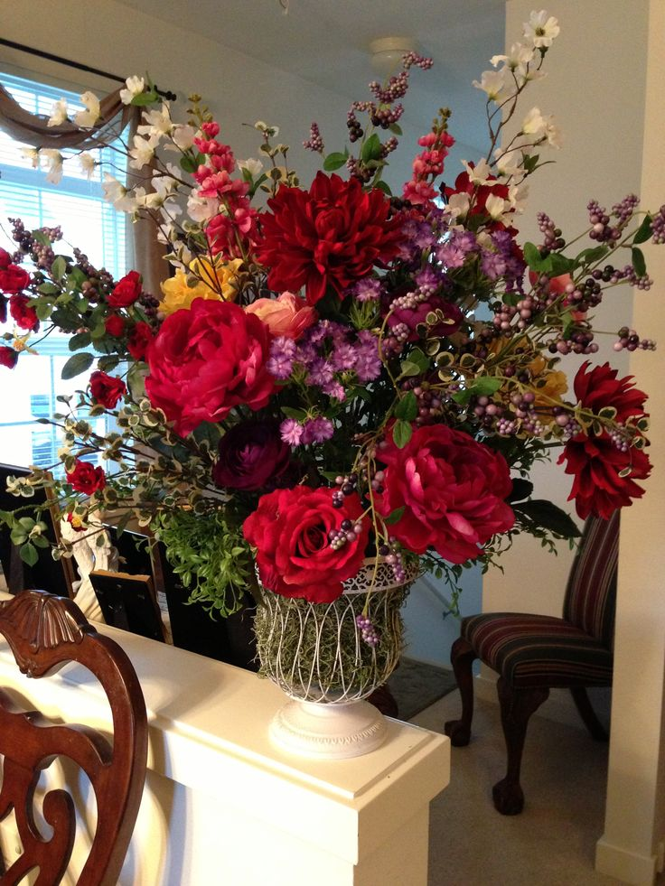 Silk Flower Arrangement Custom Orders Living Room Pinterest