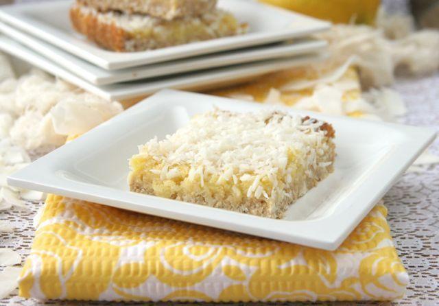 Lemon Coconut Bars | DailyBitesBlog.com | Recipes | Pinterest