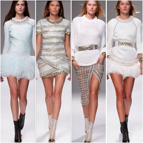 My favourites from Balmain white ss14 spring summer 14 fashion