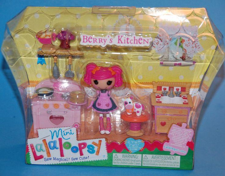 lalaloopsy berry s jars n jam kitchen playset mini doll