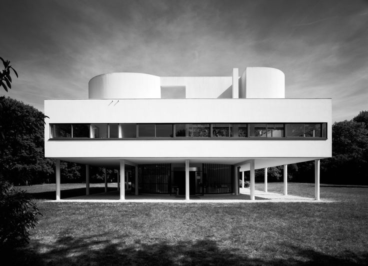 villa savoye le corbusier architecture like a model pinterest. Black Bedroom Furniture Sets. Home Design Ideas