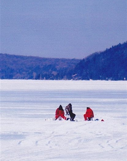 Ice fishing on crystal lake michigan home sick for Ice fishing michigan