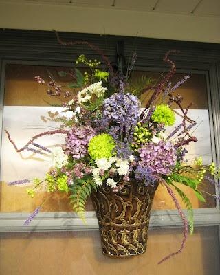 Spring Door Decor - purples & greens