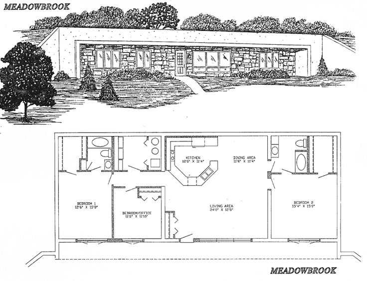 Floor plan from earthships cob Underground home plans designs