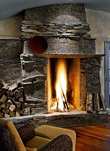 amazing! stone fireplace | cool houses & buildings | Pinterest