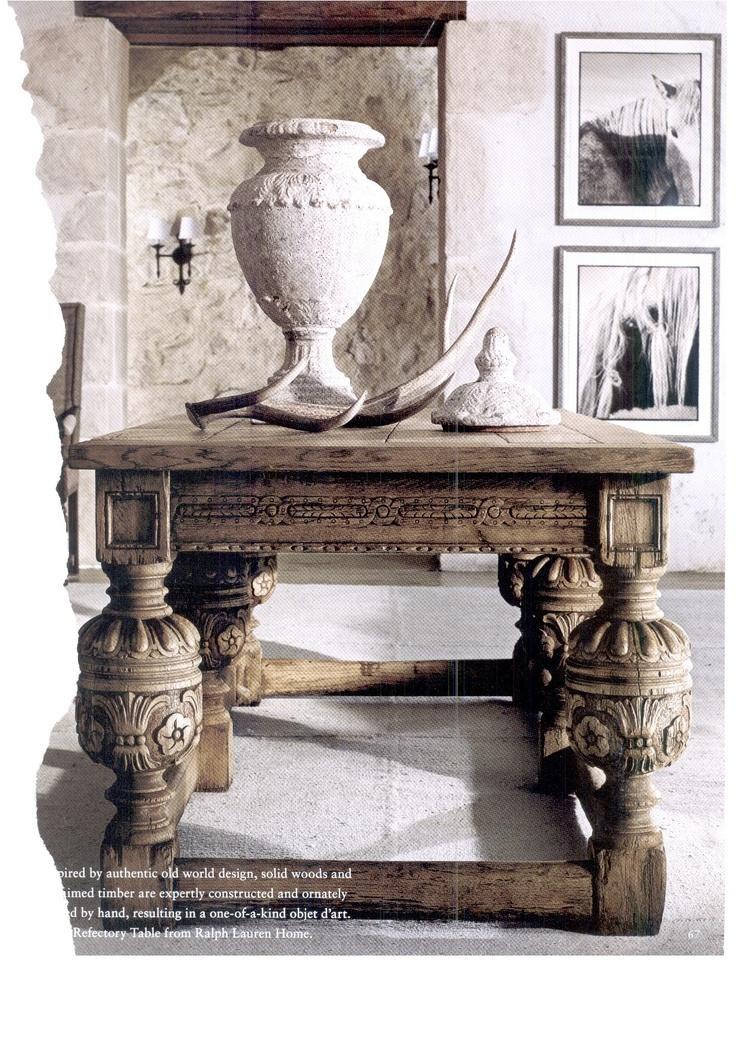 ralph lauren table decor