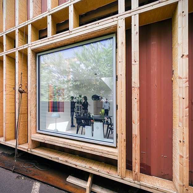 Cargo container house design features bright home interiors in contem - Container home interiors ...