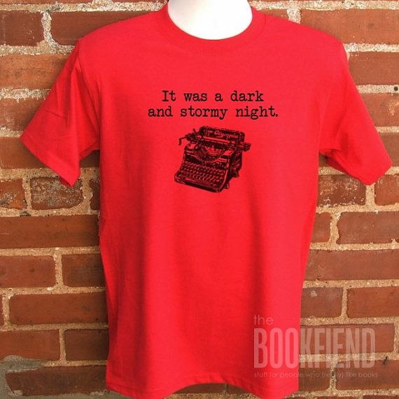 dark and stormy night classic fit tshirt by BookFiend on Etsy, $18.00
