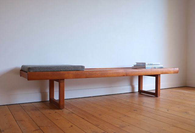 Low teak bench/ coffee table made by Dalescraft, England c1960 ...