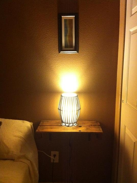 hanging night stand  DIY House Projects  Pinterest