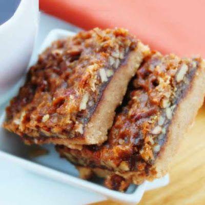 Pecan Chocolate Squares | Vegan Food | Pinterest