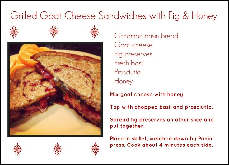 ... like this: goat cheese sandwiches , cheese sandwich and goat cheese