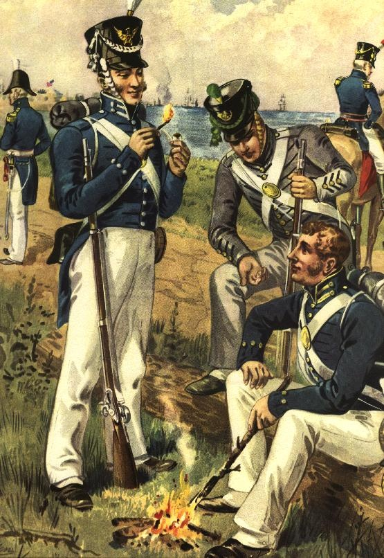 Army uniforms, the War of 1812 http://bigideamastermind.com ...