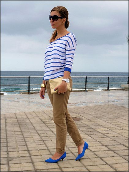 Nautical stripes (by Guaxara Las Palmas) http://lookbook.nu/look/3723887-Nautical-stripes