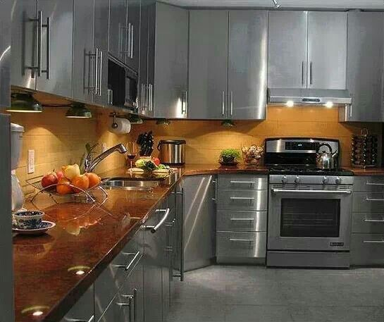 silver kitchen  designer living  kitchen  Pinterest