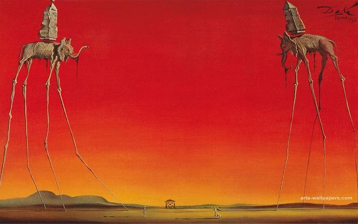 The Elephants, by Salvador Dali | Salvador Dali | Pinterest