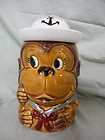 Vintage Monkey w/Sailor Hat Cookie Jar