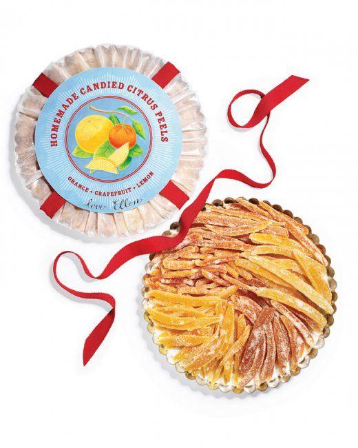 Candied Citrus Peels, Recipe from Martha Stewart Living, December 2008
