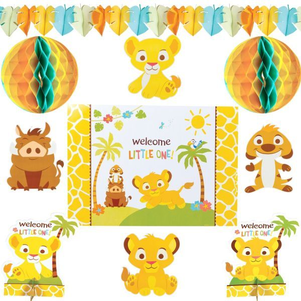 Lion king baby shower room decorating kit 10pc party city 9 99
