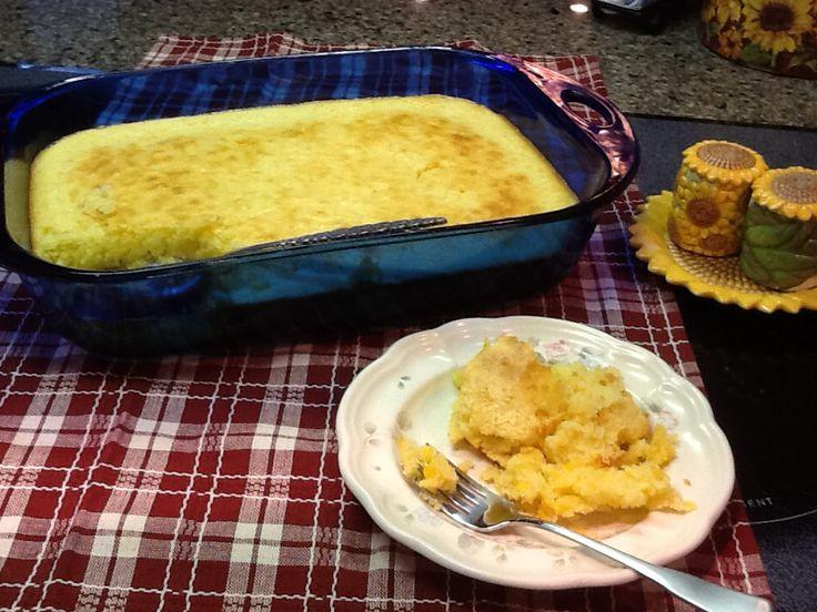 Easy Corn Spoon Bread Recipe: 2 boxes Jiffy corn muffin mix....2 eggs ...