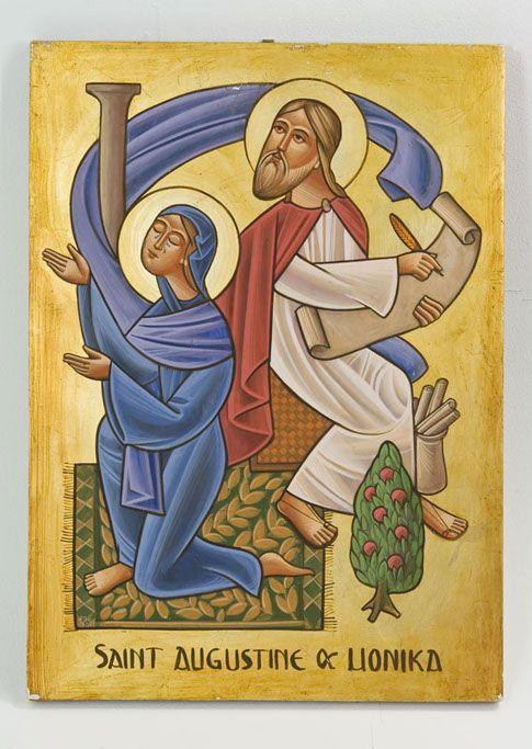 Michael Ghobrial, St Augustine with his mother St Monica dans immagini sacre e2da609204967e8d052f93a12d47d824