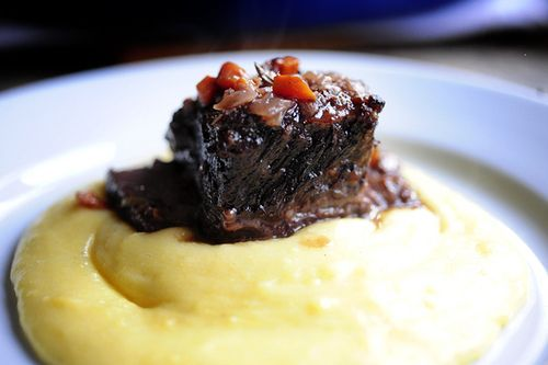 Creamy Polenta with Goat Cheese | Recipe