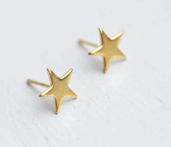 gold star studs for good work