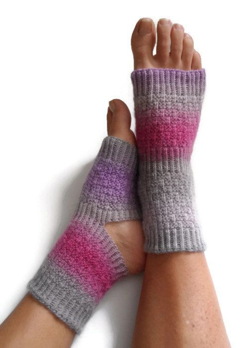 Knitting Pattern For Pedicure Socks : Yoga Socks Hand Knit in Regency Pedicure Pilates Dance