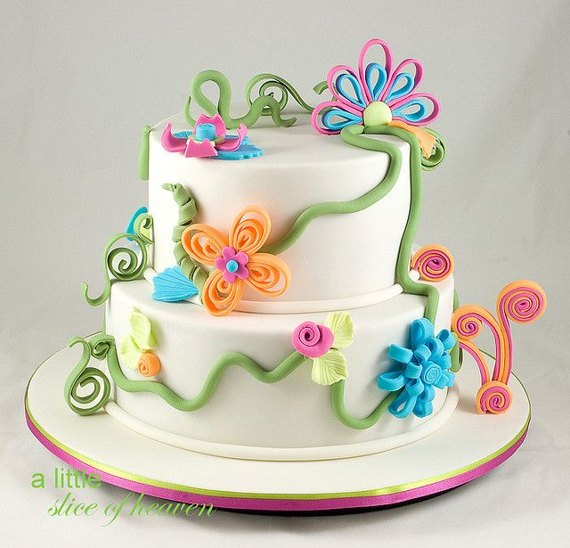 Cake Decorating Quilling : Quilling Cake Inspiration Pinterest