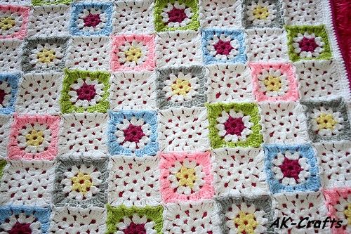 Star Granny Square - free pattern Crochet Pinterest