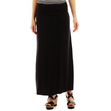 a n a 174 foldover maxi skirt jcpenney how to wear maxi