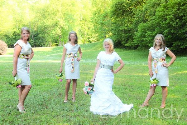 White short sleeves mermaid taffeta wedding 2014 wedding dresses