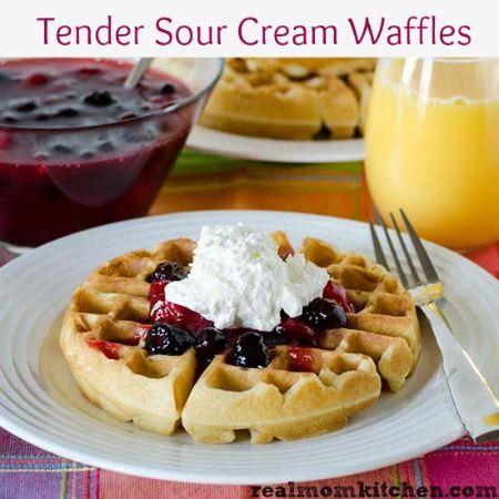 ... waffles with maple cream sour cream enchiladas cucumbers in sour cream