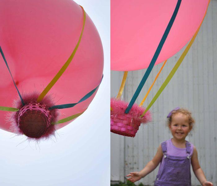hot air balloon craft party ideas pinterest