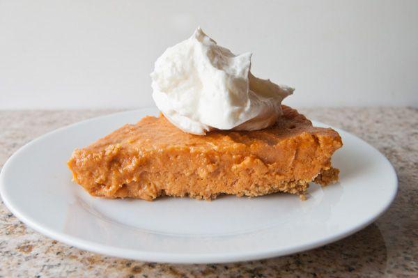 Frozen Pumpkin Mousse Pie- a lightened up, gluten free summer ...
