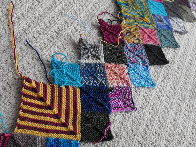 Knitting Patterns For Wool Scraps : scrap yarn blanket Knitting Pinterest