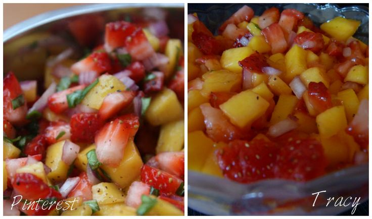 Strawberry Mango Salsa - madefrompinterest.net - This Pin Rocks! # ...