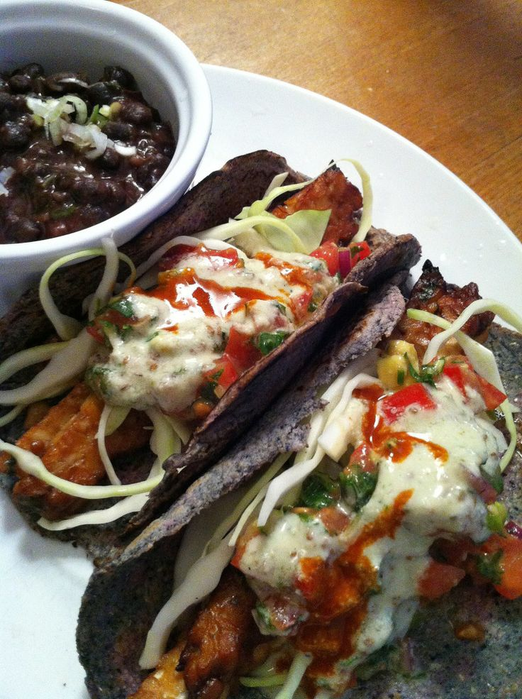 tempeh tacos | Vegan Cooking | Pinterest