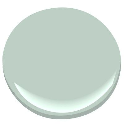 Benjamin Moore Bali-beautiful, soft, peaceful color, blue-green, an 86.1 match to Sherwin Williams Rainwashed