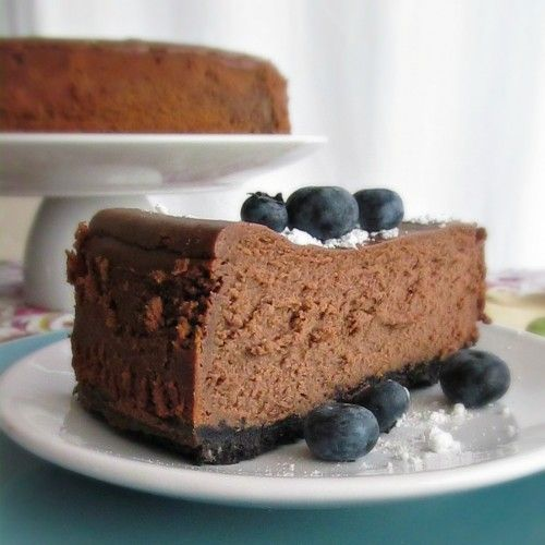 Chocolate Cheese Cake Triple layer chocolate and chocolate mouse ...