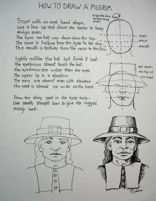 How To Draw A Pilgrim