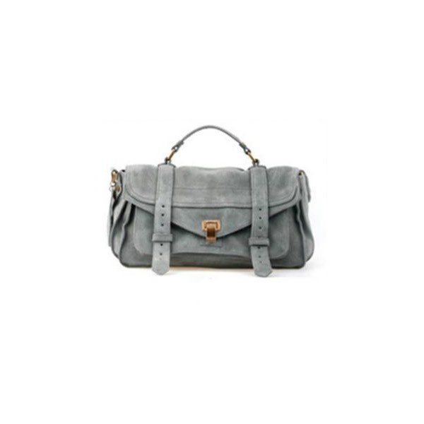 Matting Leather Grey Vintage Cross Body Bag ($129) ❤ liked on Polyvore