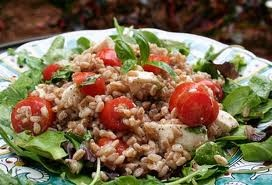 Farro Salad with Tomatoes and Garden Herbs...mmmmm...delicious. To ...