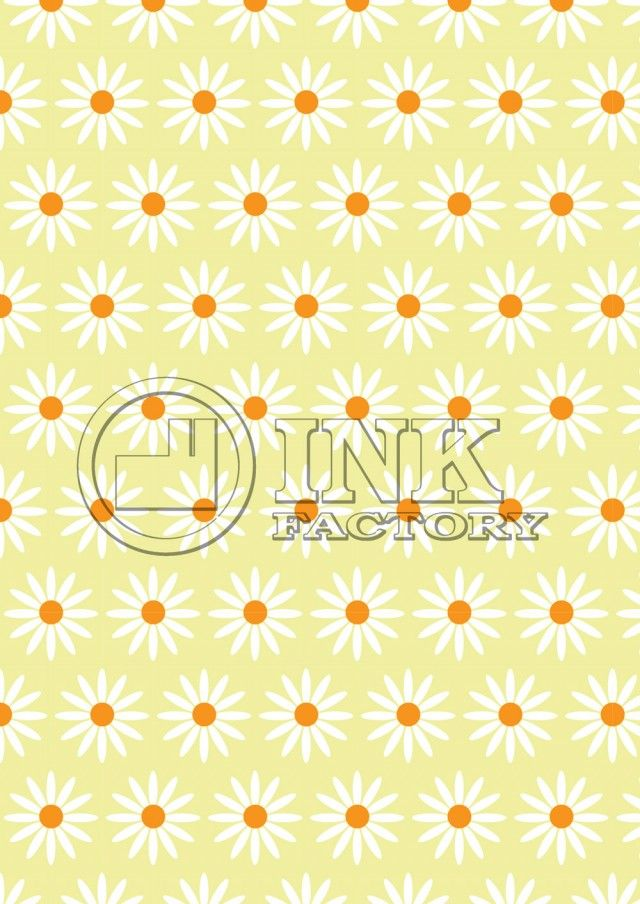 Large Daisies On Yellow Printable Scrapbook Paper FREE #printables