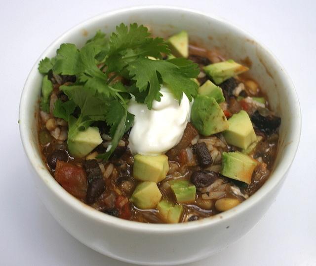 Vegetarian Chili with Portabella Mushrooms