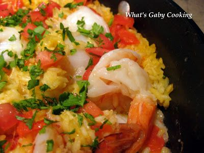 Shrimp and Scallop Paella - just made some with added chorizo. Easy ...