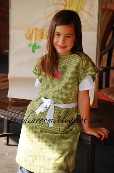 art smock made from a man's dress shirt, my mom had these when we were little.
